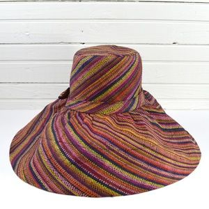 Accessories - STRIPED RAFFIA HAT #170-403